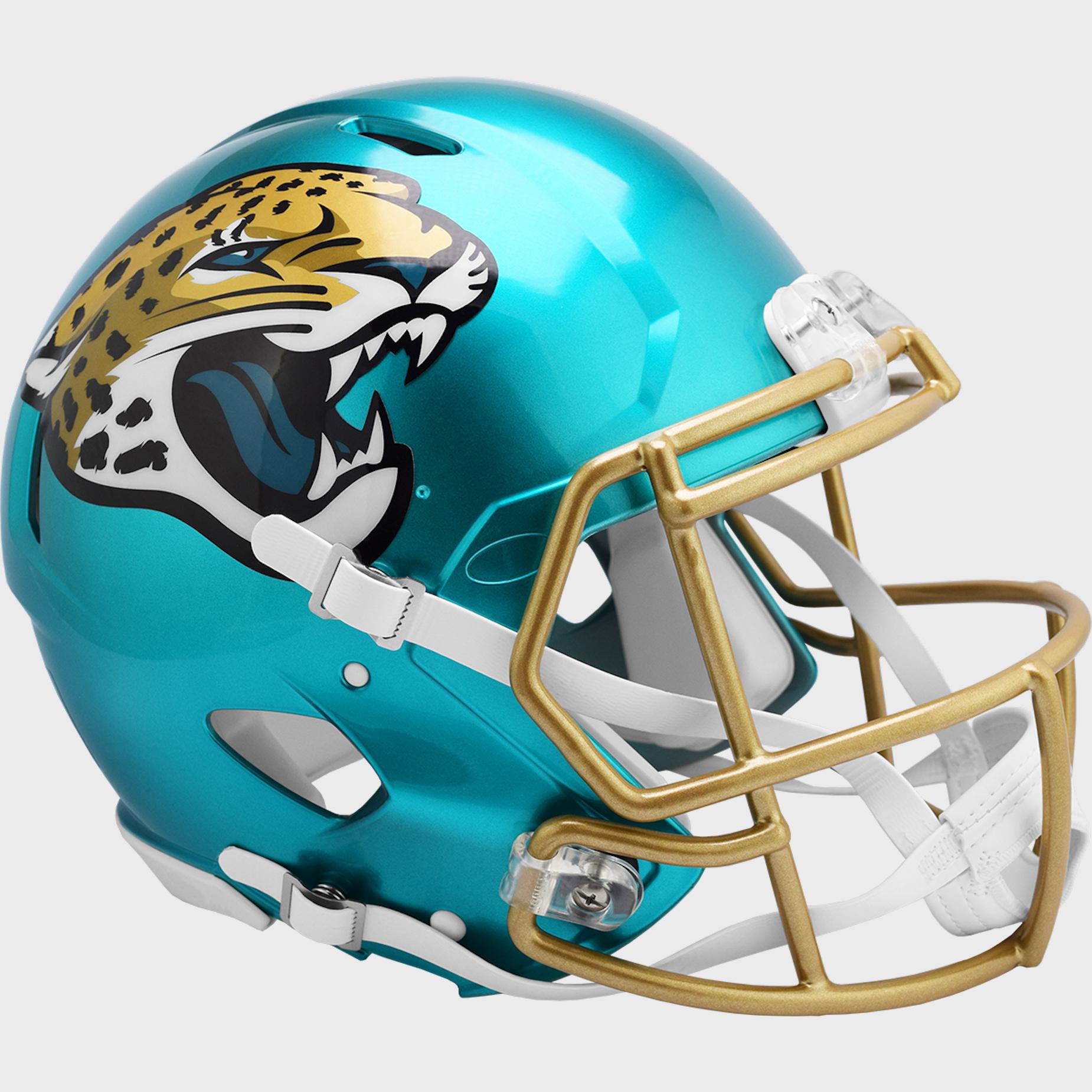 Jacksonville Jaguars Speed Football Helmet <B>FLASH ESD 8/21/21</B>