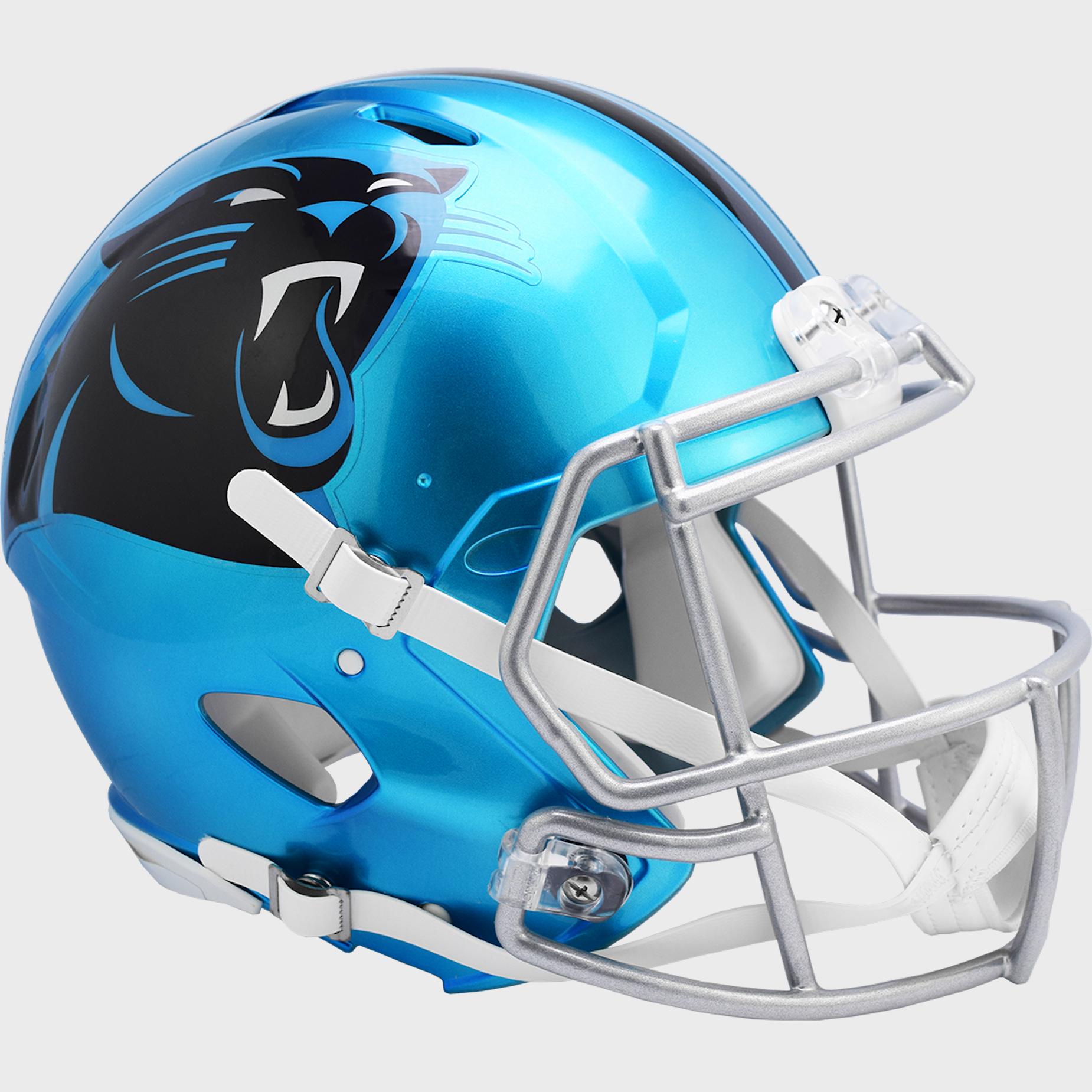 Carolina Panthers Speed Football Helmet <B>FLASH ESD 8/21/21</B>