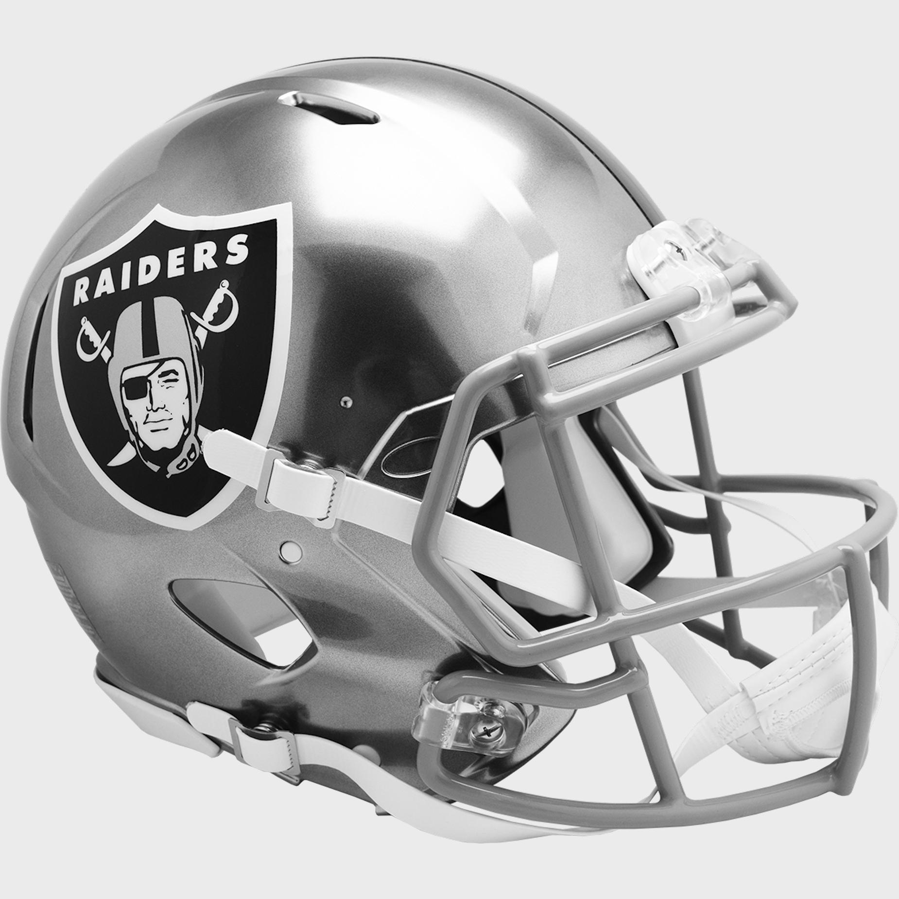 Las Vegas Raiders Speed Football Helmet <B>FLASH ESD 8/21/21</B>