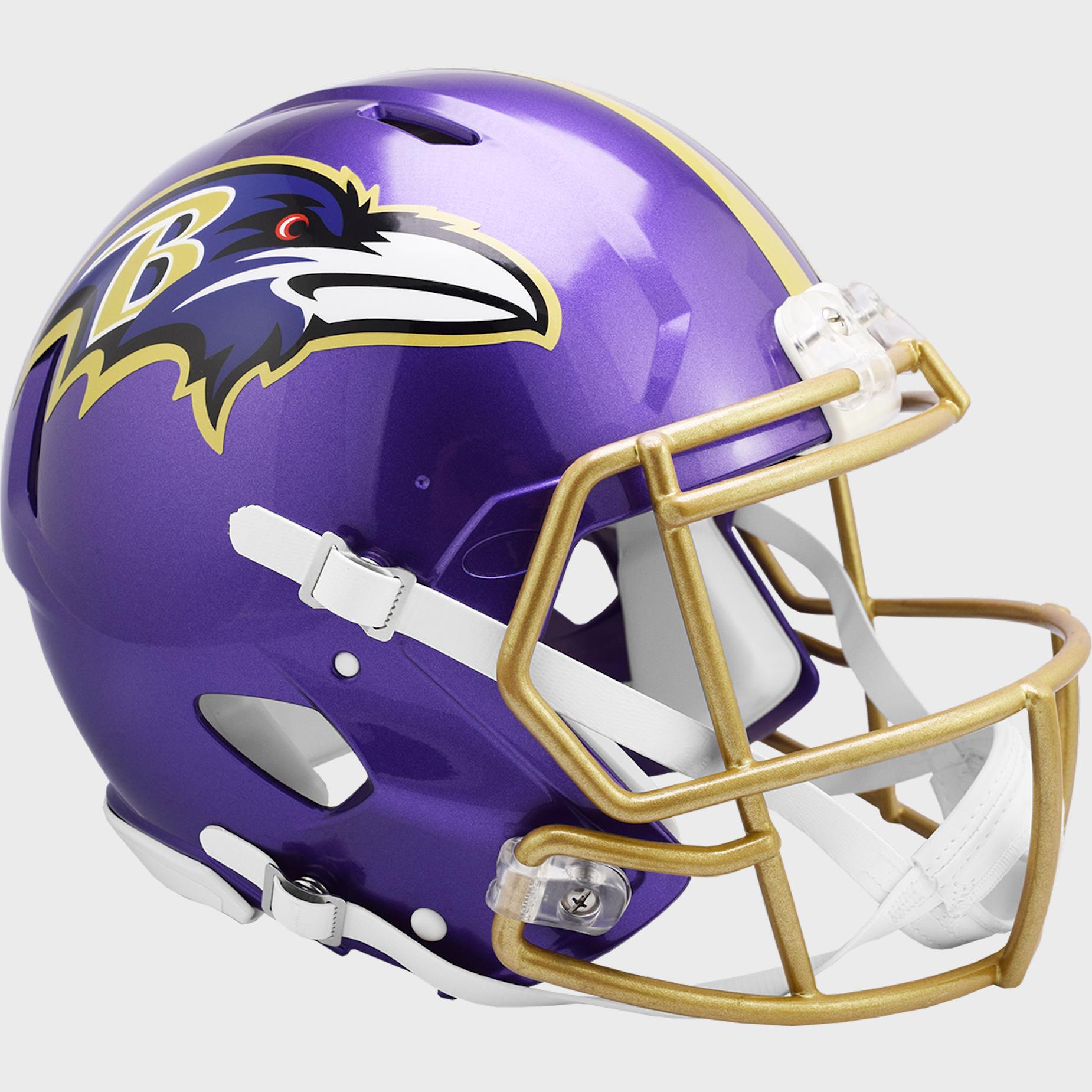 Baltimore Ravens Speed Football Helmet <B>FLASH ESD 8/21/21</B>