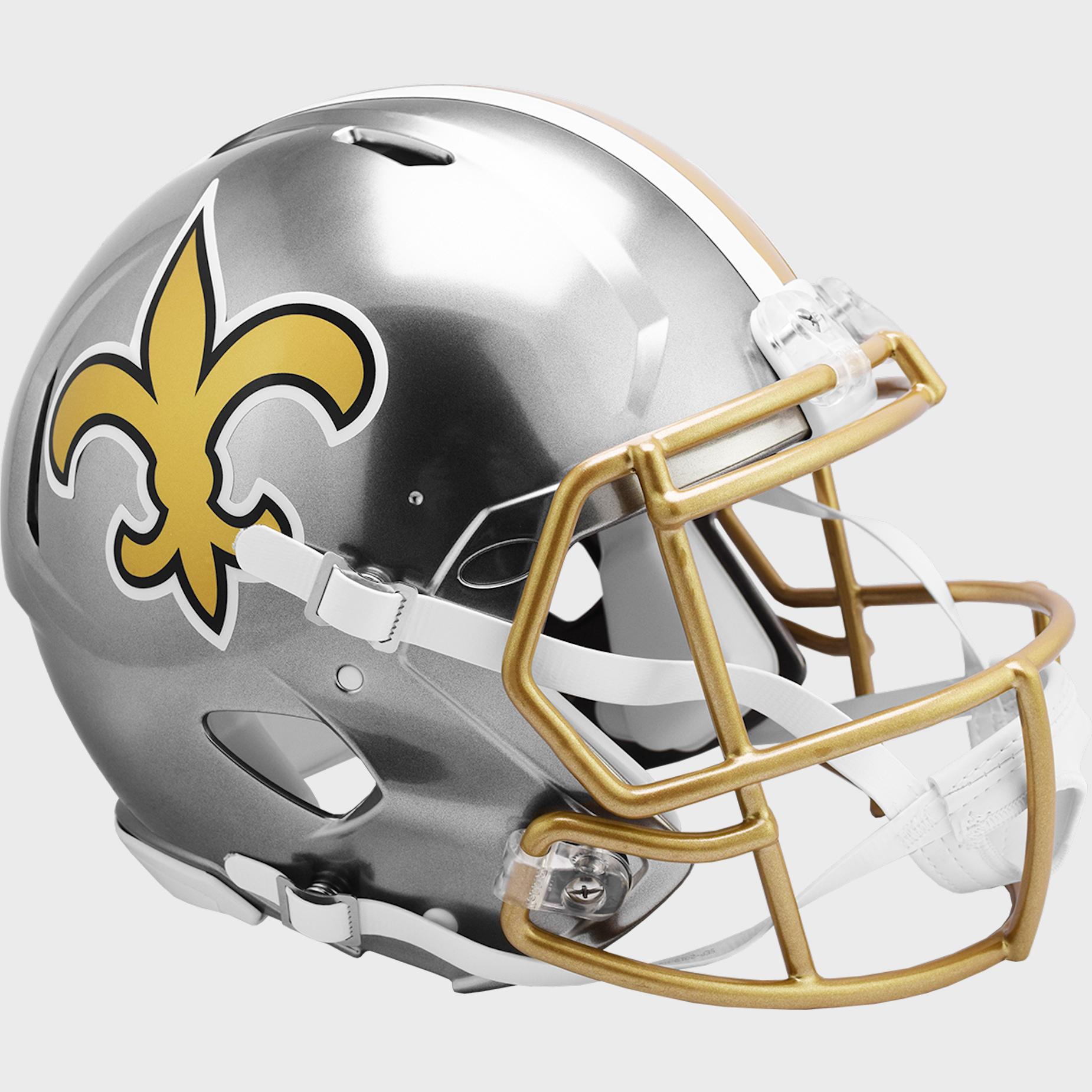 New Orleans Saints Speed Football Helmet <B>FLASH ESD 8/21/21</B>
