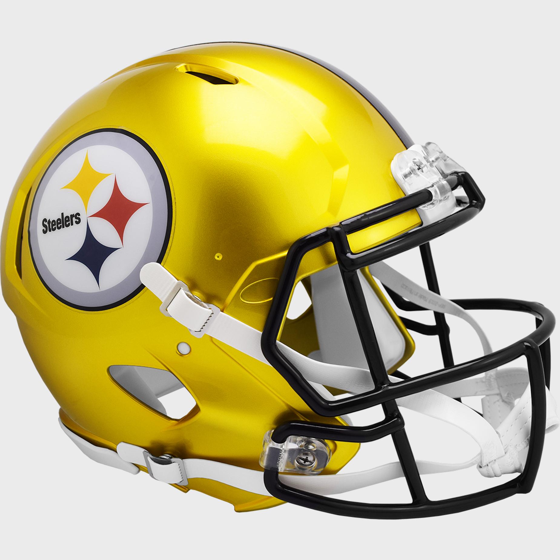 Pittsburgh Steelers Speed Football Helmet <B>FLASH ESD 8/21/21</B>
