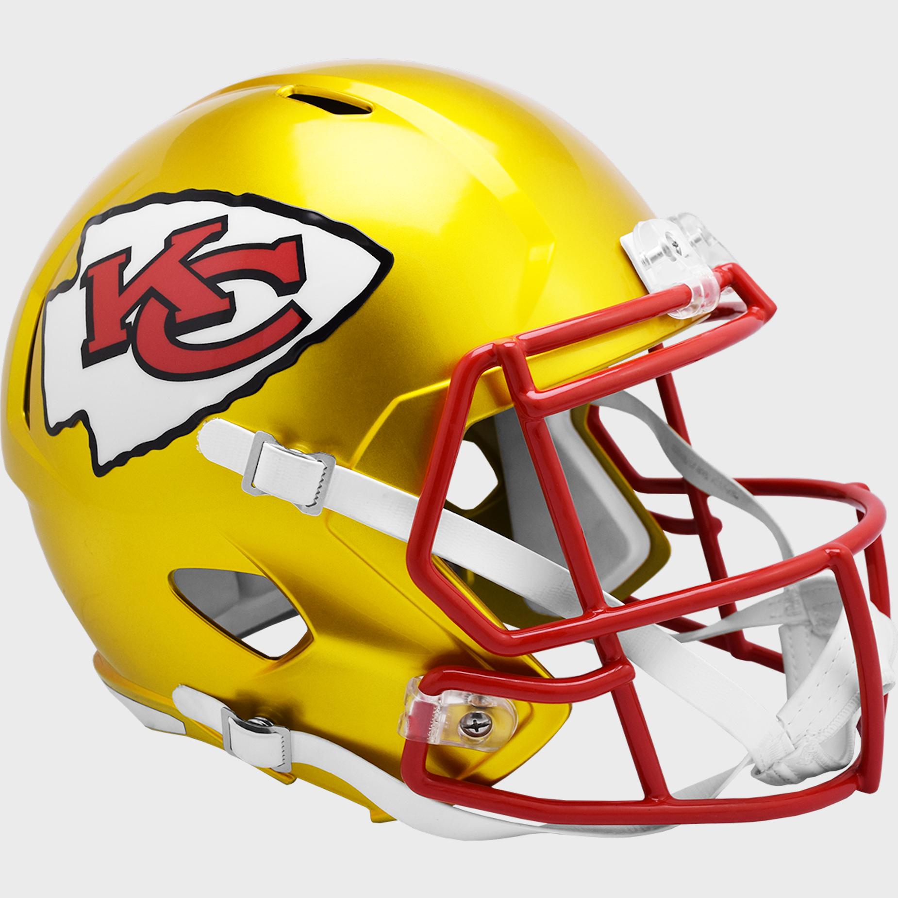 Kansas City Chiefs Speed Replica Football Helmet <B>FLASH ESD 8/21/21</B>