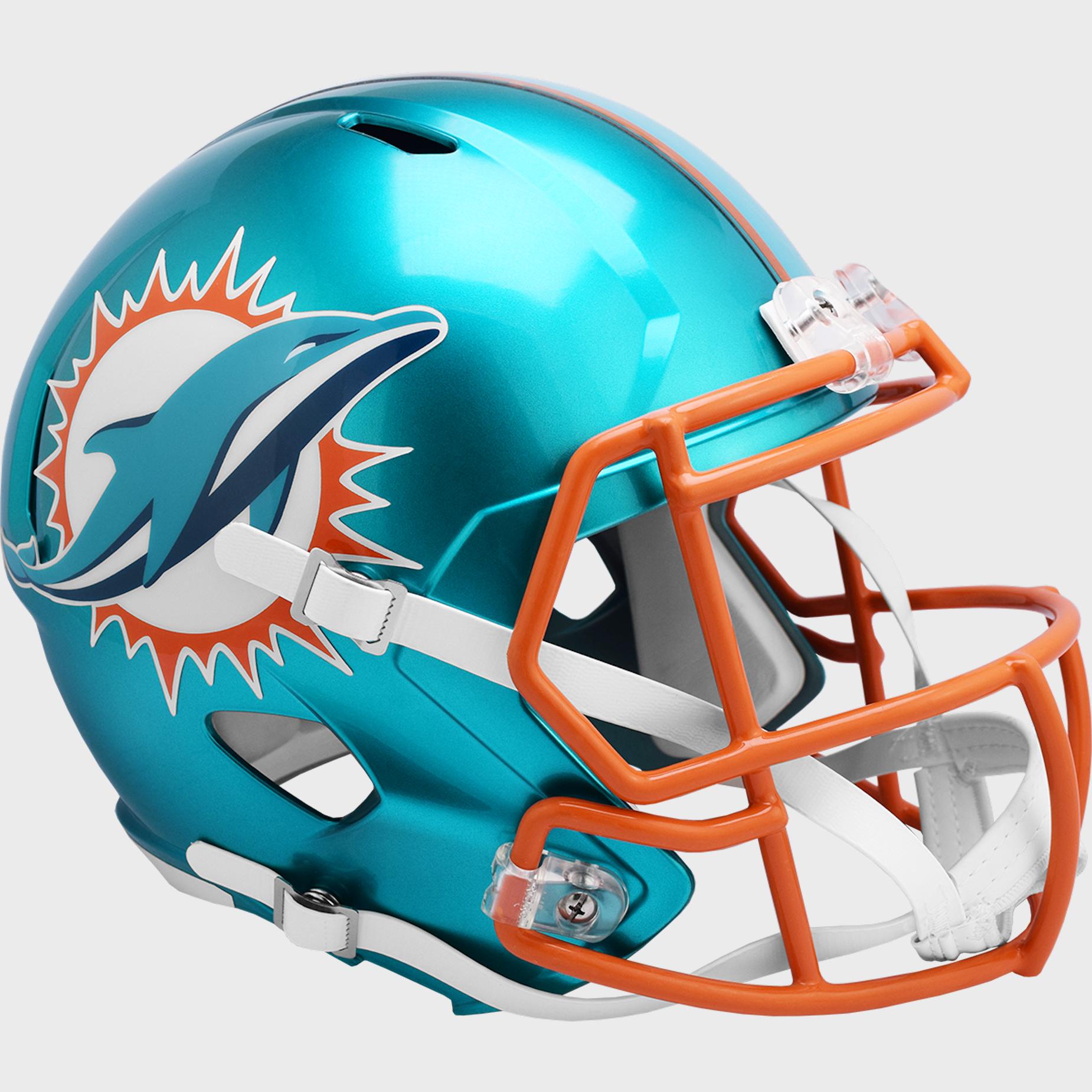 Miami Dolphins Speed Replica Football Helmet <B>FLASH ESD 8/21/21</B>