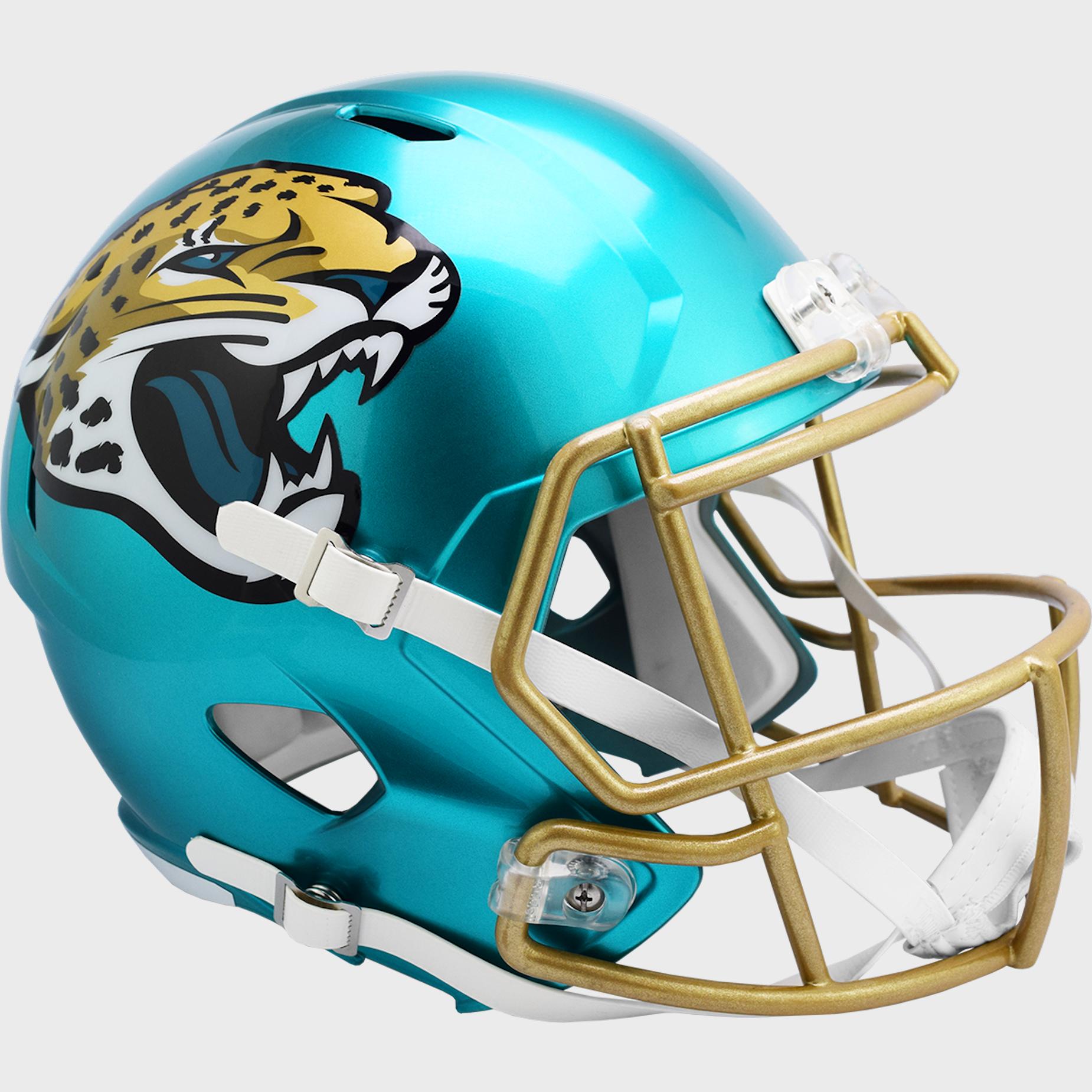 Jacksonville Jaguars Speed Replica Football Helmet <B>FLASH ESD 8/21/21</B>
