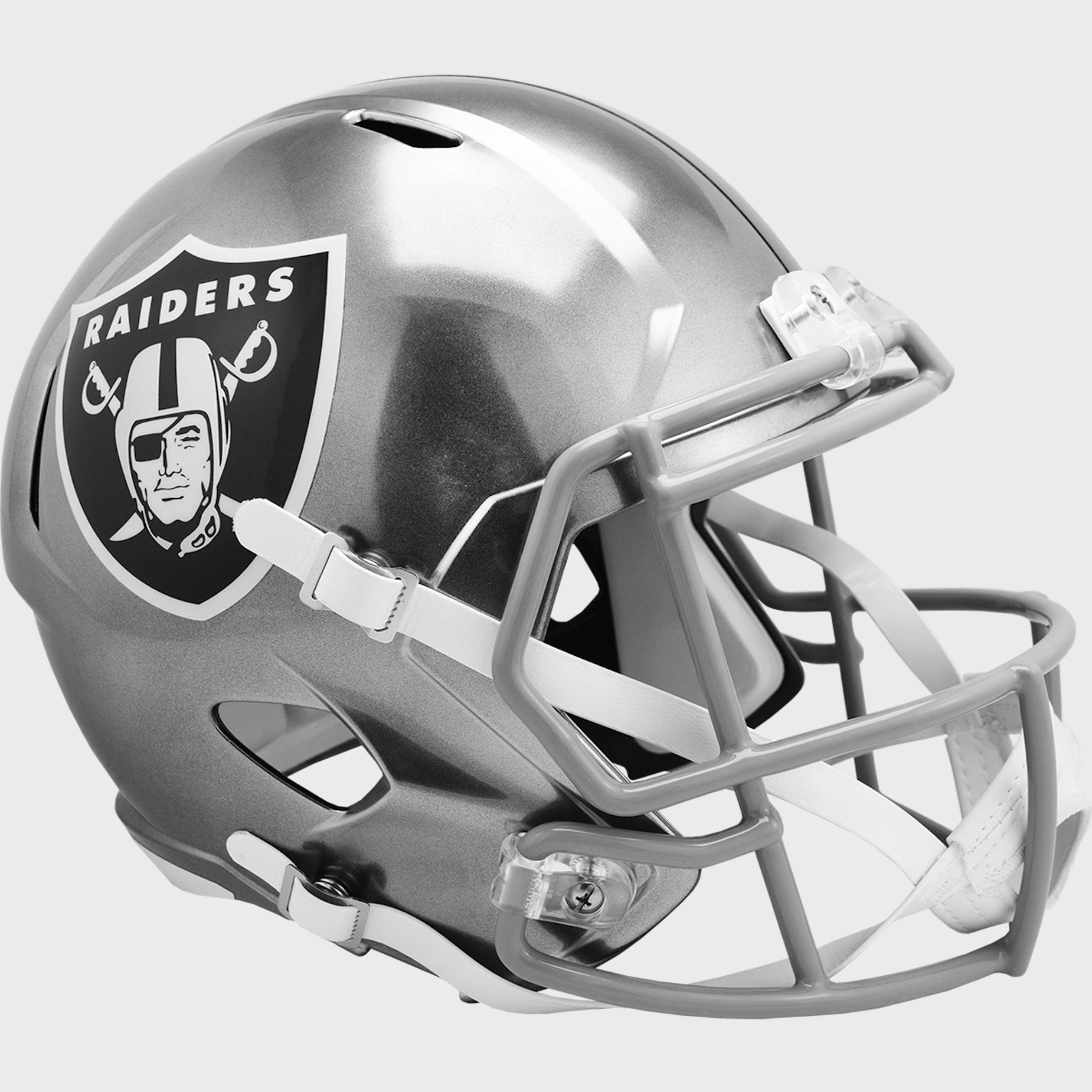 Las Vegas Raiders Speed Replica Football Helmet <B>FLASH ESD 8/21/21</B>