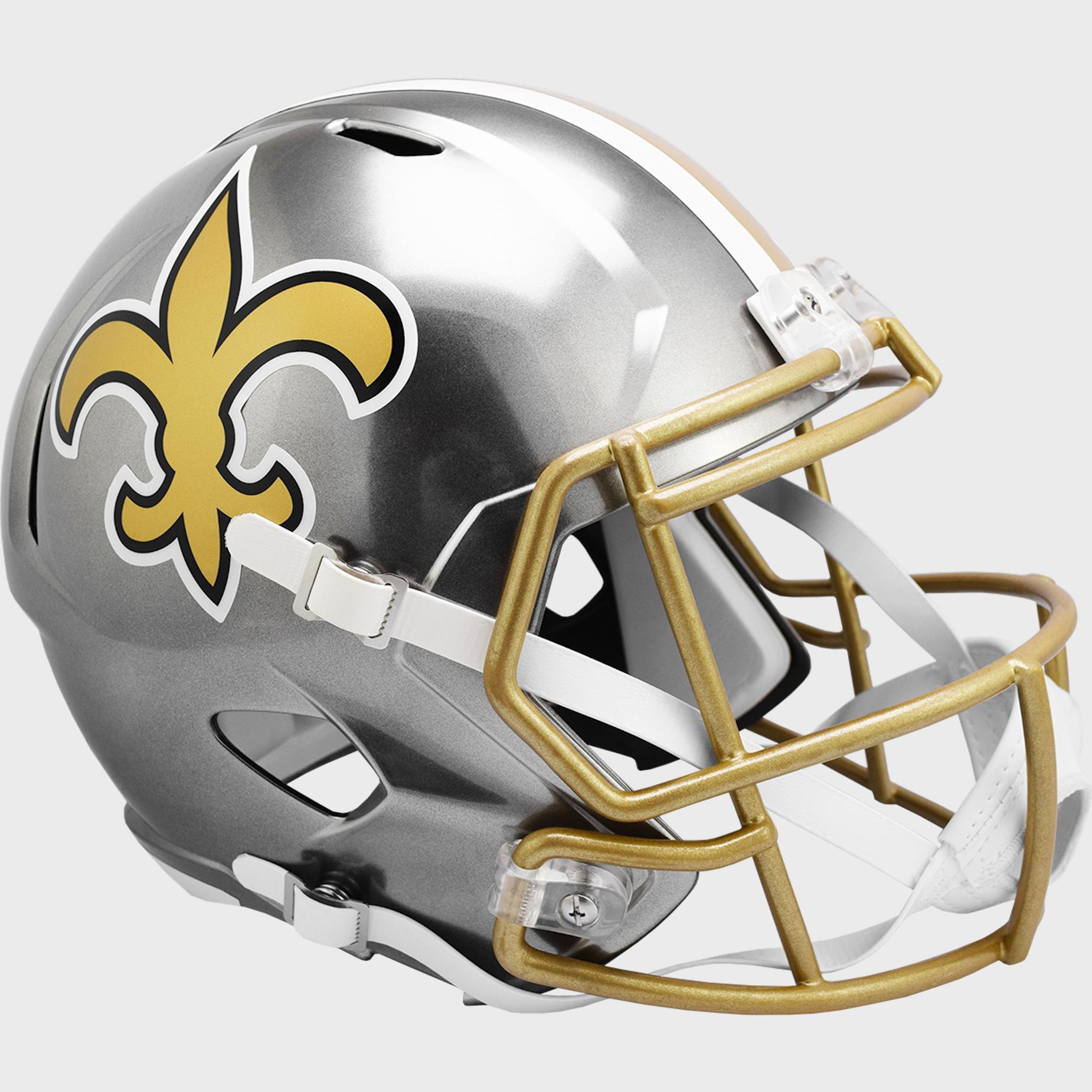 New Orleans Saints Speed Replica Football Helmet <B>FLASH ESD 8/21/21</B>