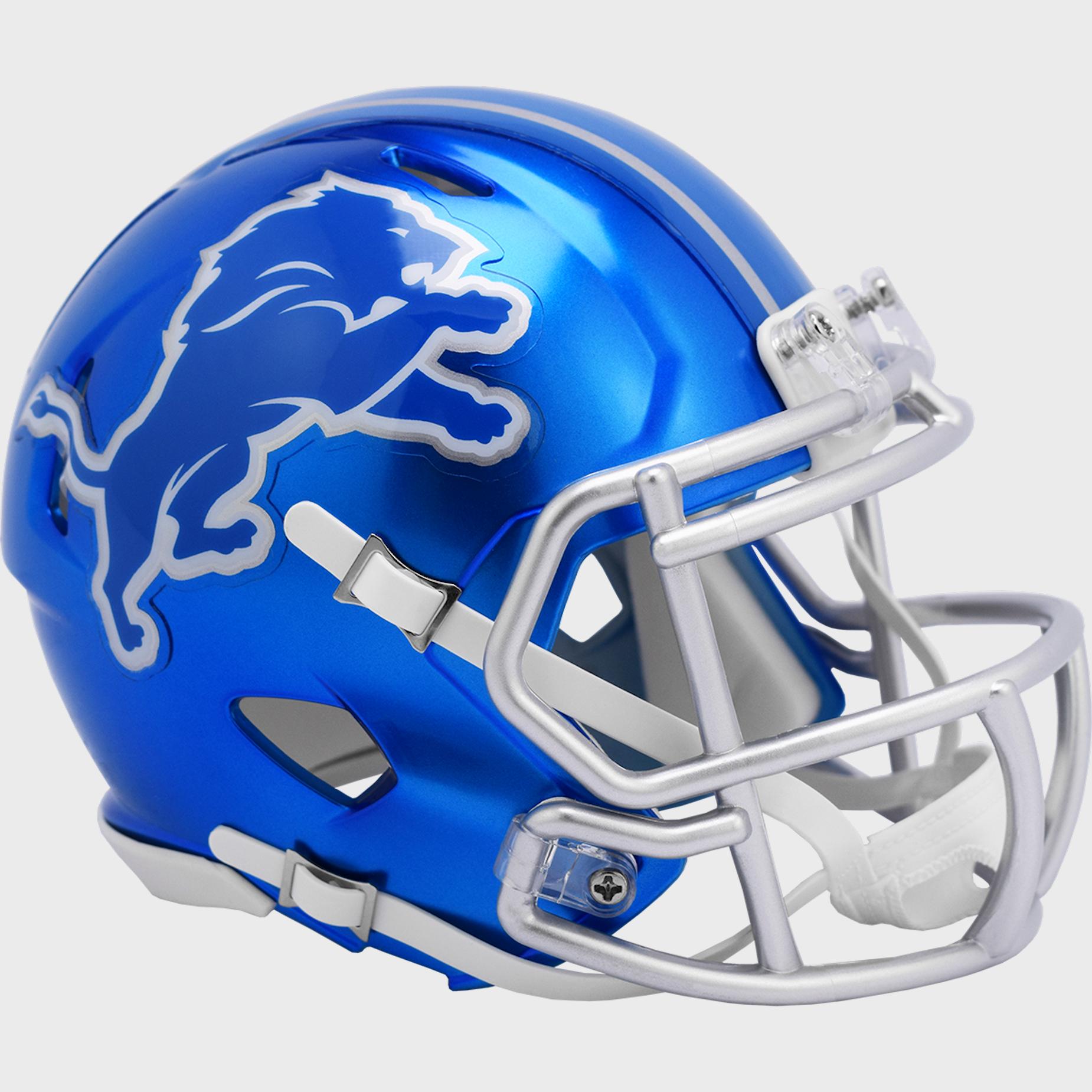 Detroit Lions Speed Mini Football Helmet <B>FLASH ESD 8/21/21</B>