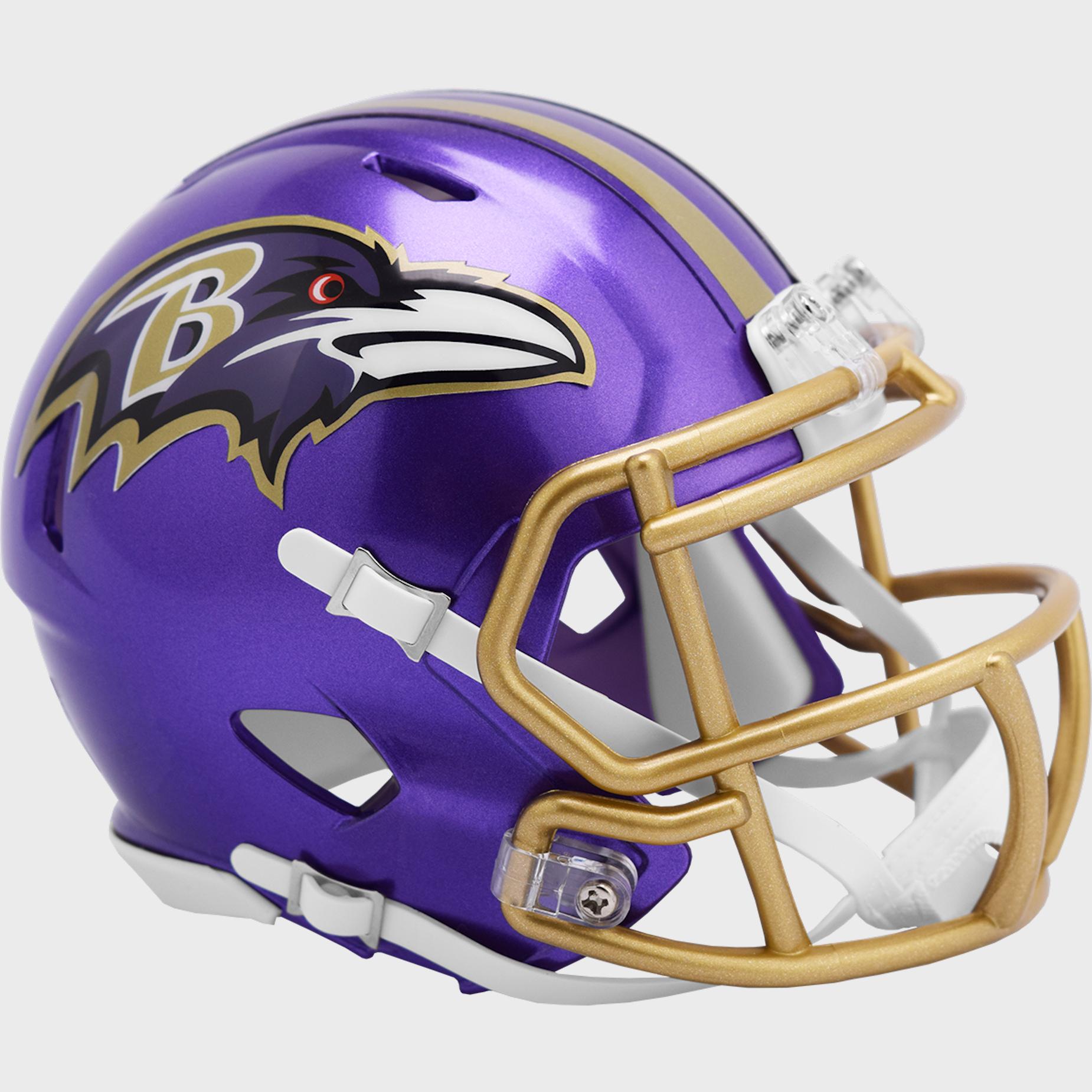 Baltimore Ravens Speed Mini Football Helmet <B>FLASH ESD 8/21/21</B>