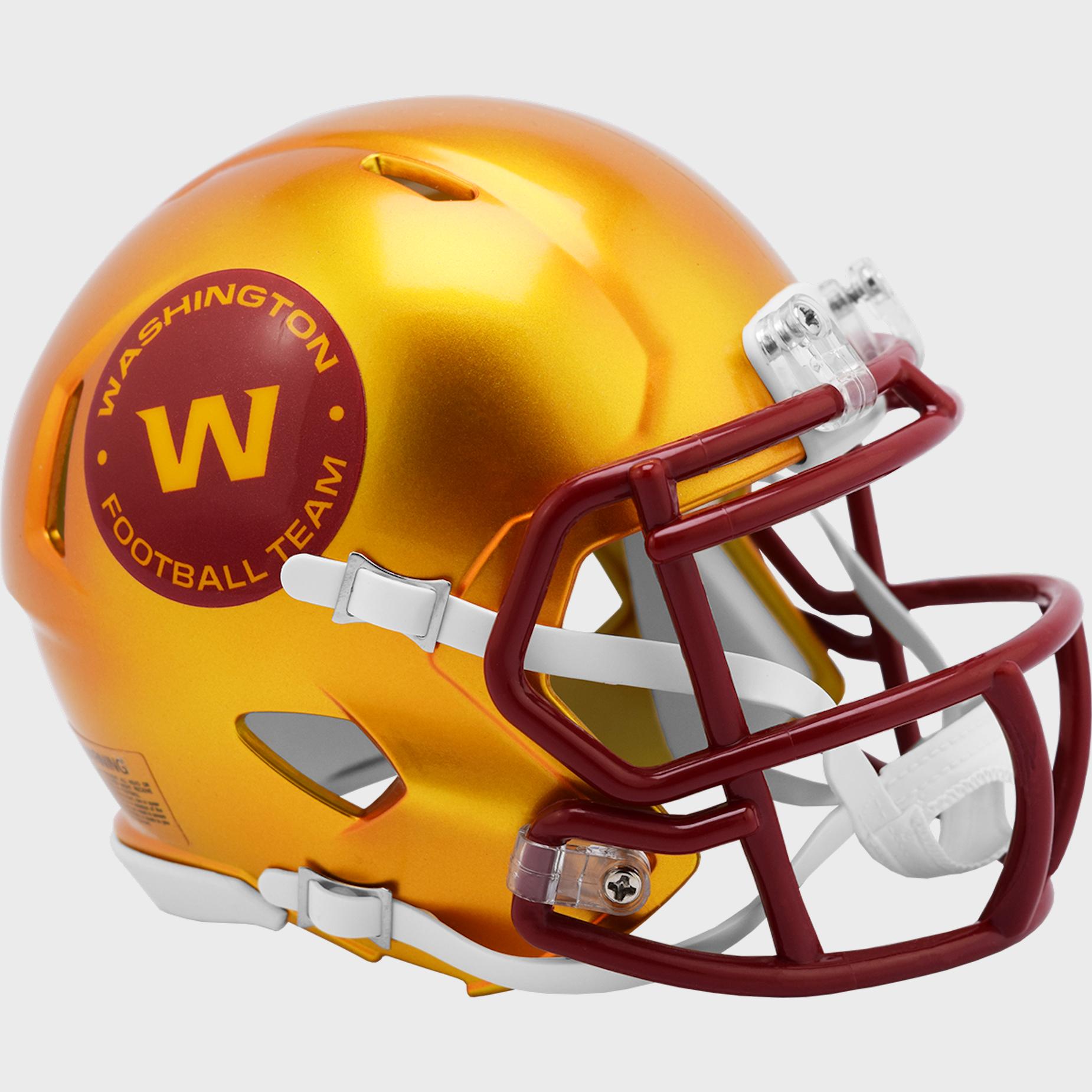 Washington Football Team Speed Mini Football Helmet <B>FLASH ESD 8/21/21</B>