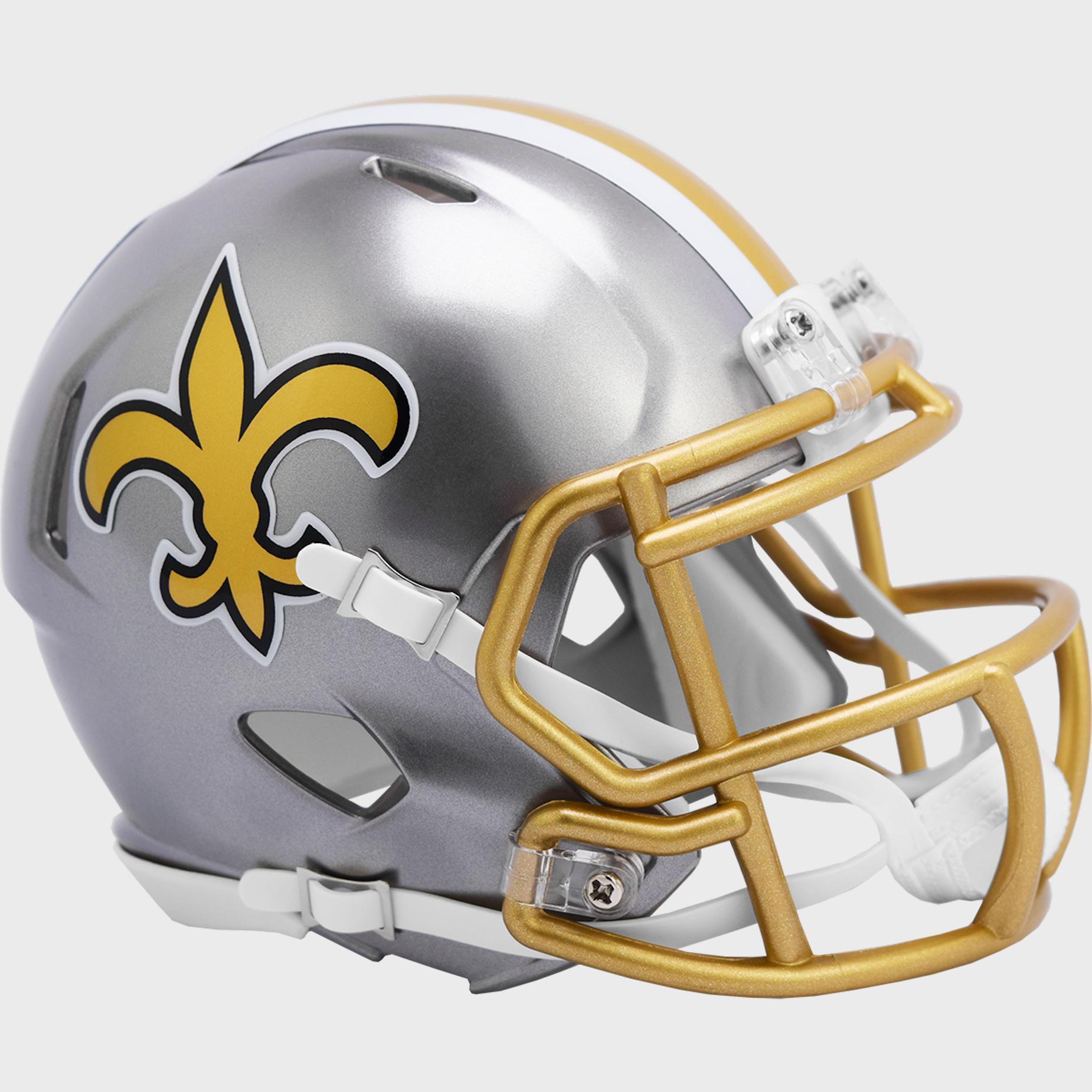New Orleans Saints Speed Mini Football Helmet <B>FLASH ESD 8/21/21</B>