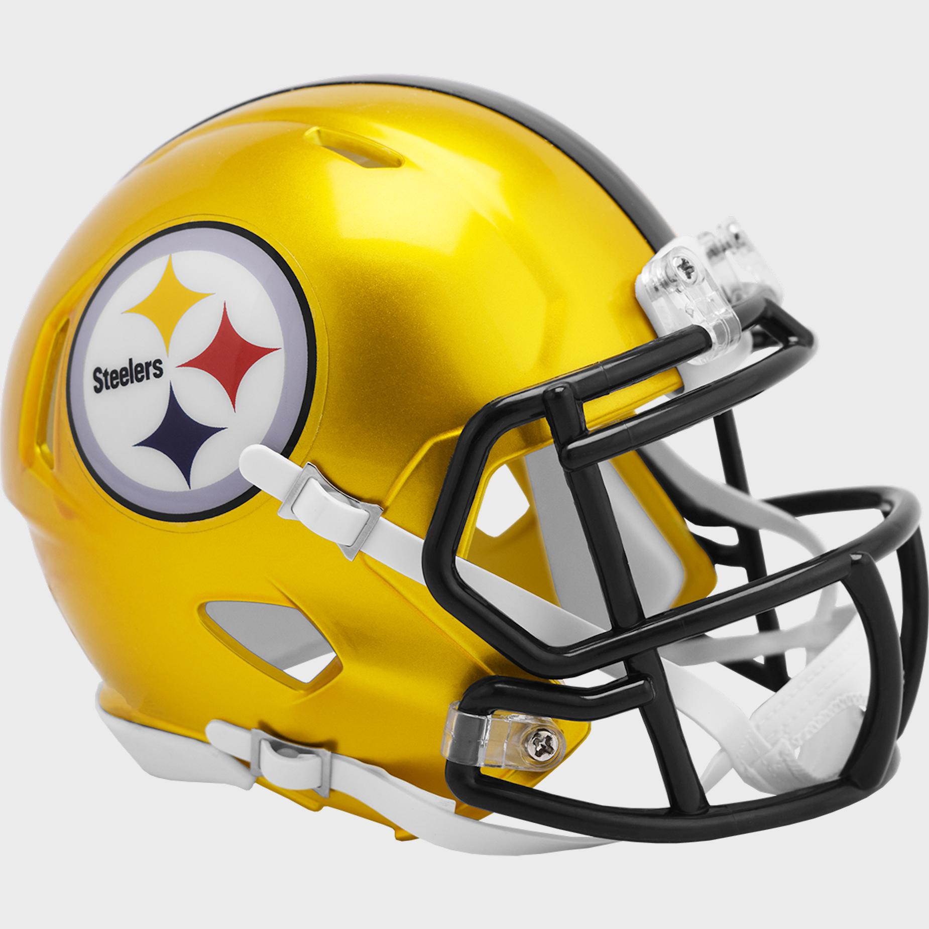 Pittsburgh Steelers Speed Mini Football Helmet <B>FLASH ESD 8/21/21</B>
