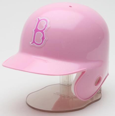 Boston Red Sox Mini Batters Helmet Pink Riddell