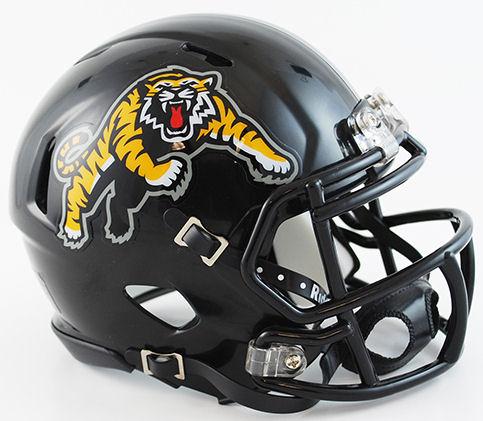 Hamilton Tiger Cats Riddell CFL Mini Speed Football Helmet