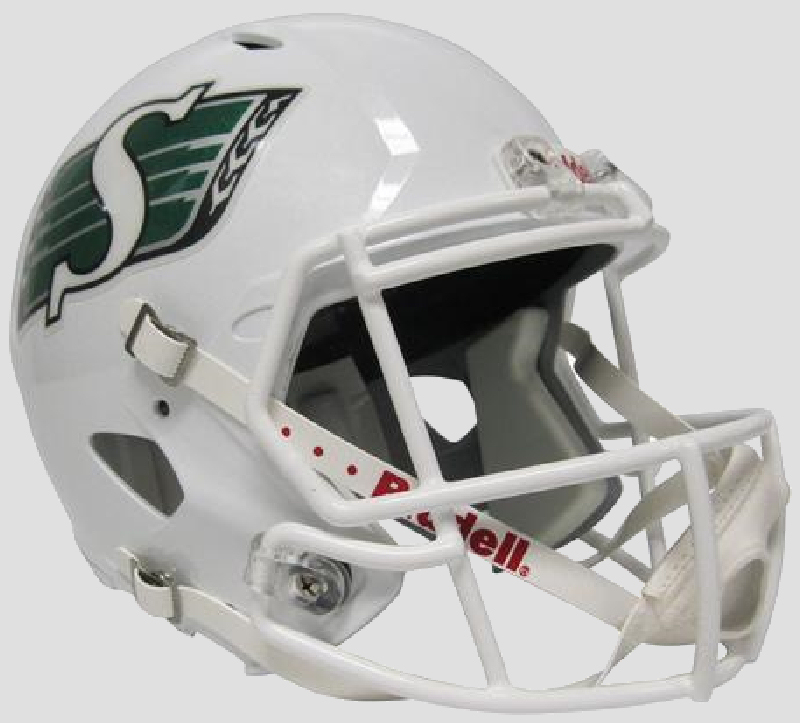 Saskatchewan Roughriders CFL Speed Replica Football Helmet <B>White</B>