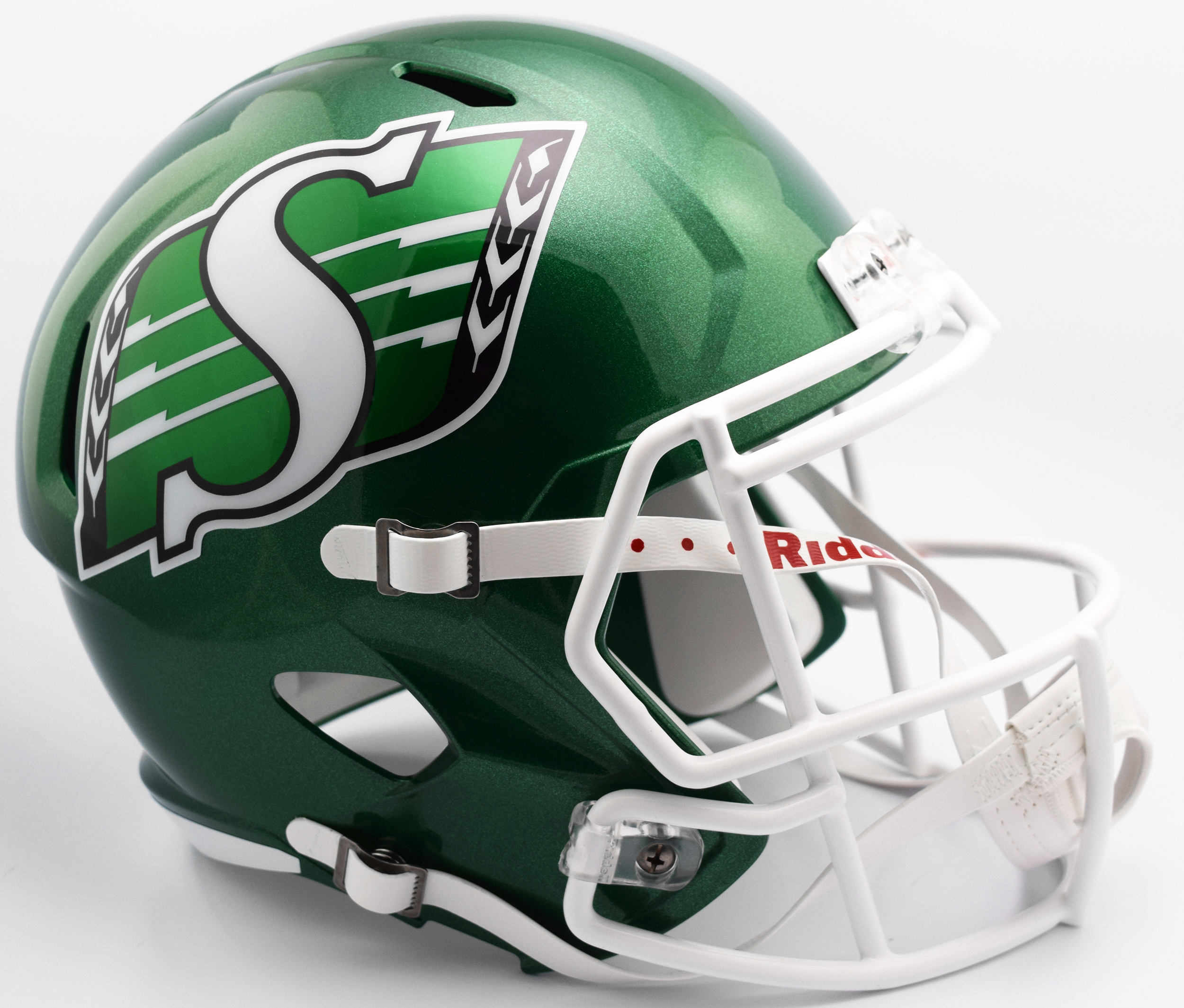 Saskatchewan Roughriders CFL Speed Replica Football Helmet