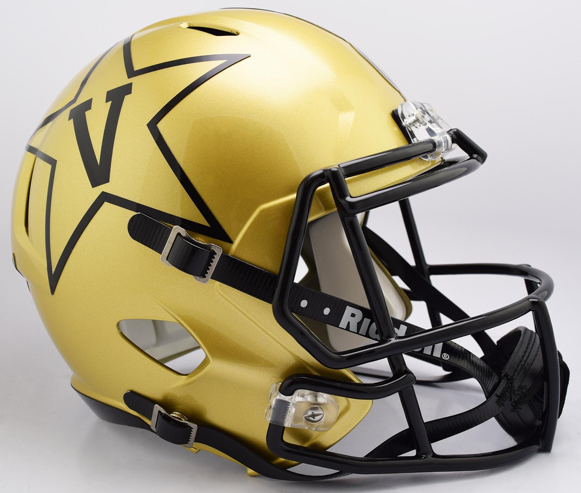 Vanderbilt Commodores Speed Replica Football Helmet <B>GOLD NEW 2018</B>