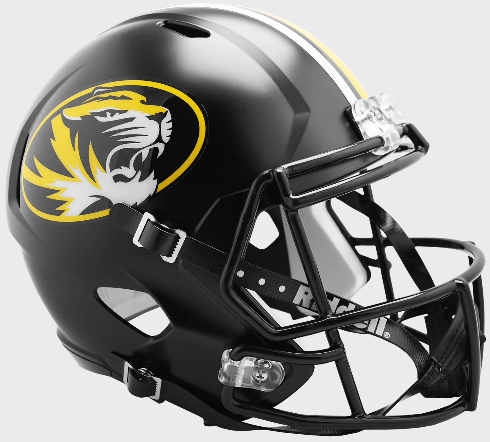 Missouri Tigers Speed Replica Football Helmet <B>Anodized Black</B>