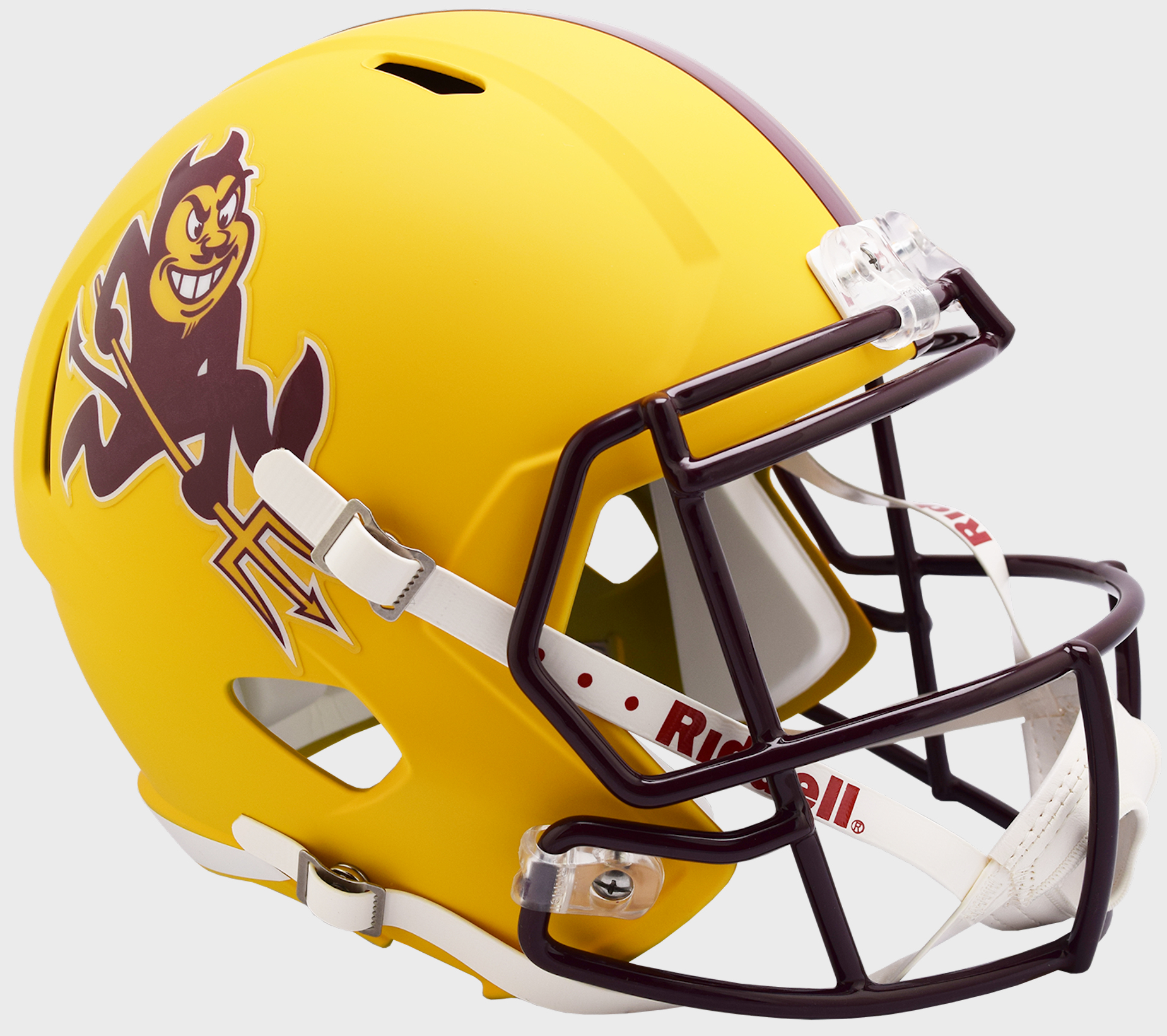 Arizona State Sun Devils Speed Replica Football Helmet <B>Flat Yellow Sparky</B>