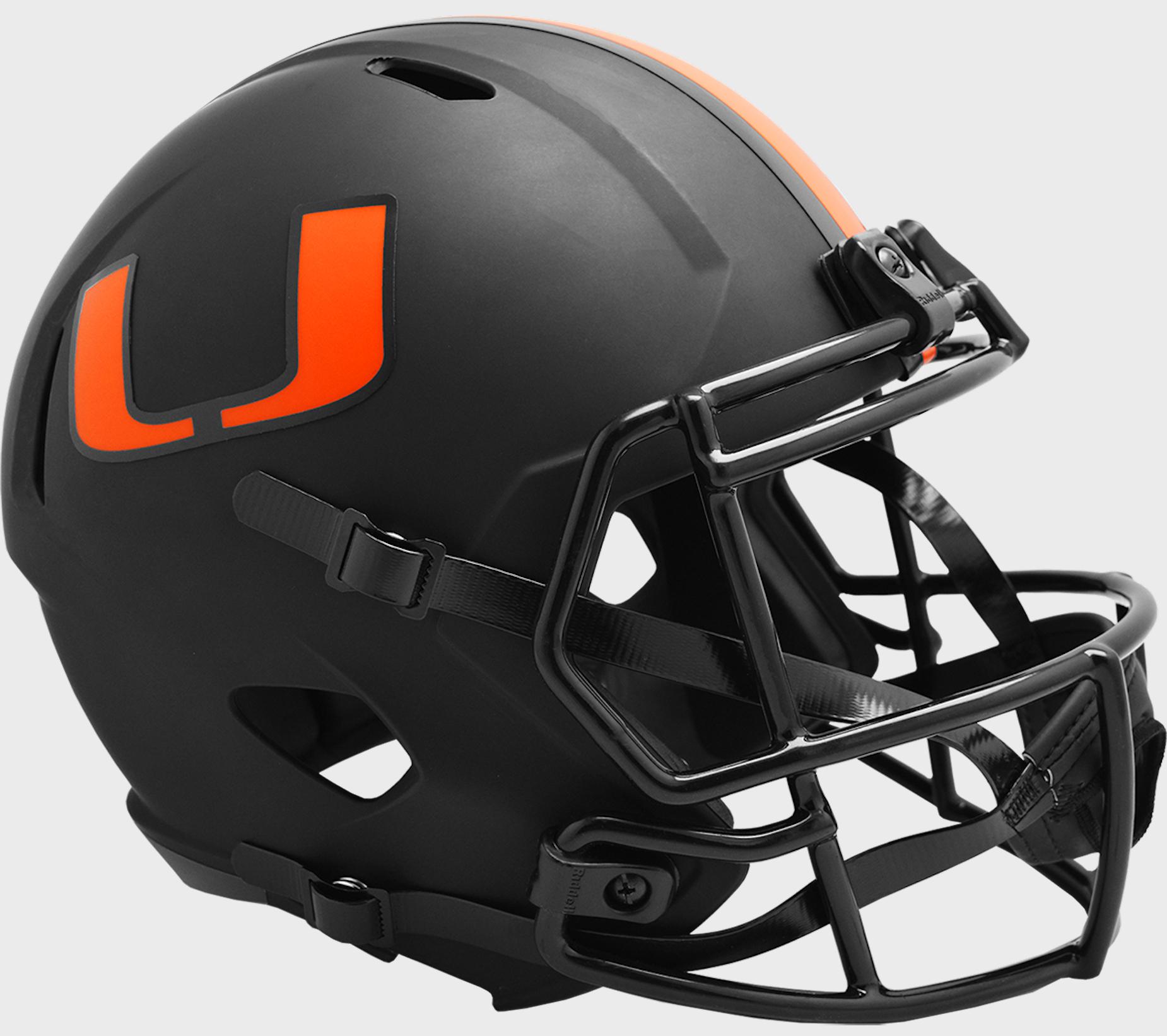Miami Hurricanes Speed Replica Football Helmet <B>ECLIPSE </B>