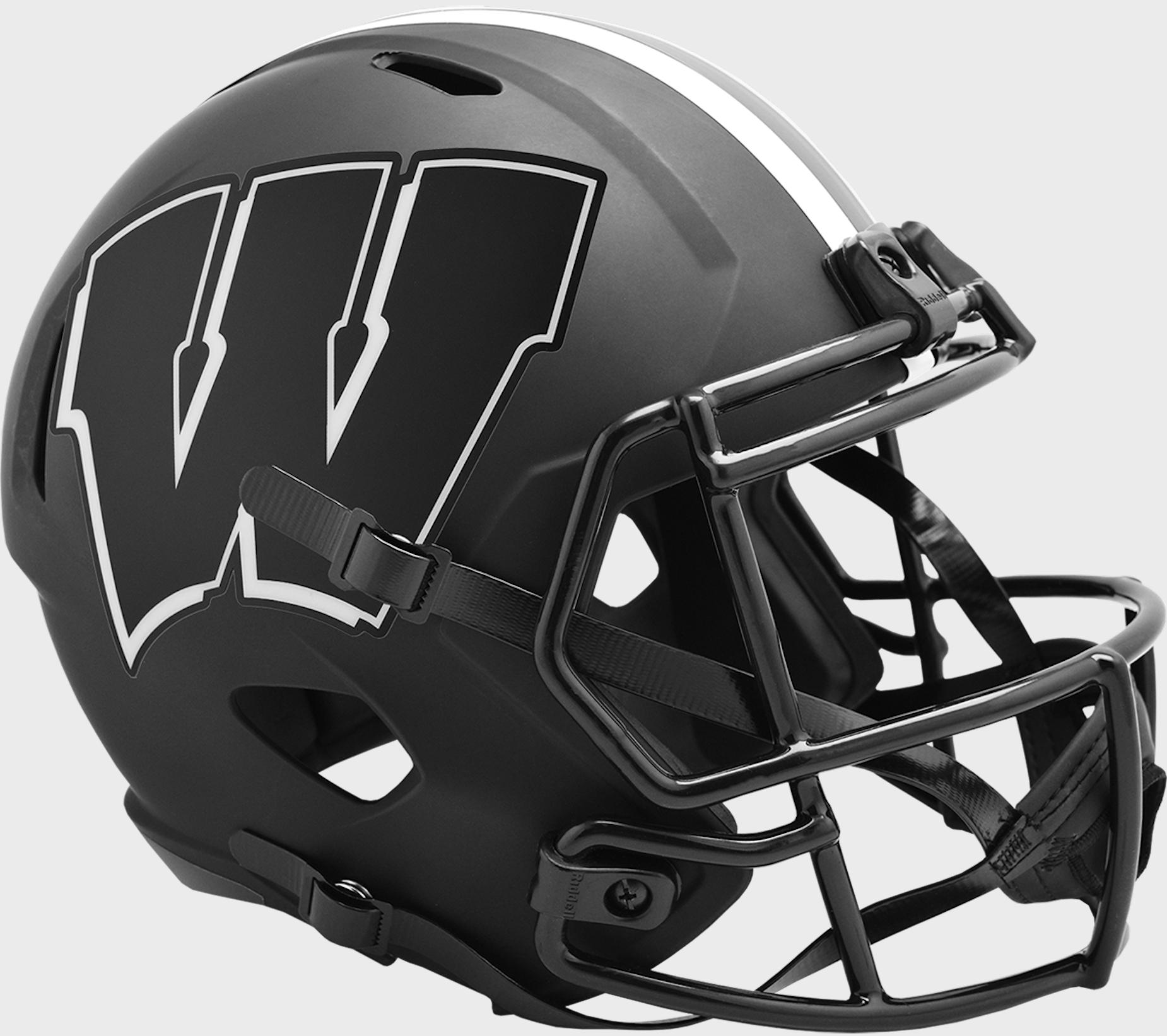 Wisconsin Badgers Speed Replica Football Helmet <B>ECLIPSE </B>
