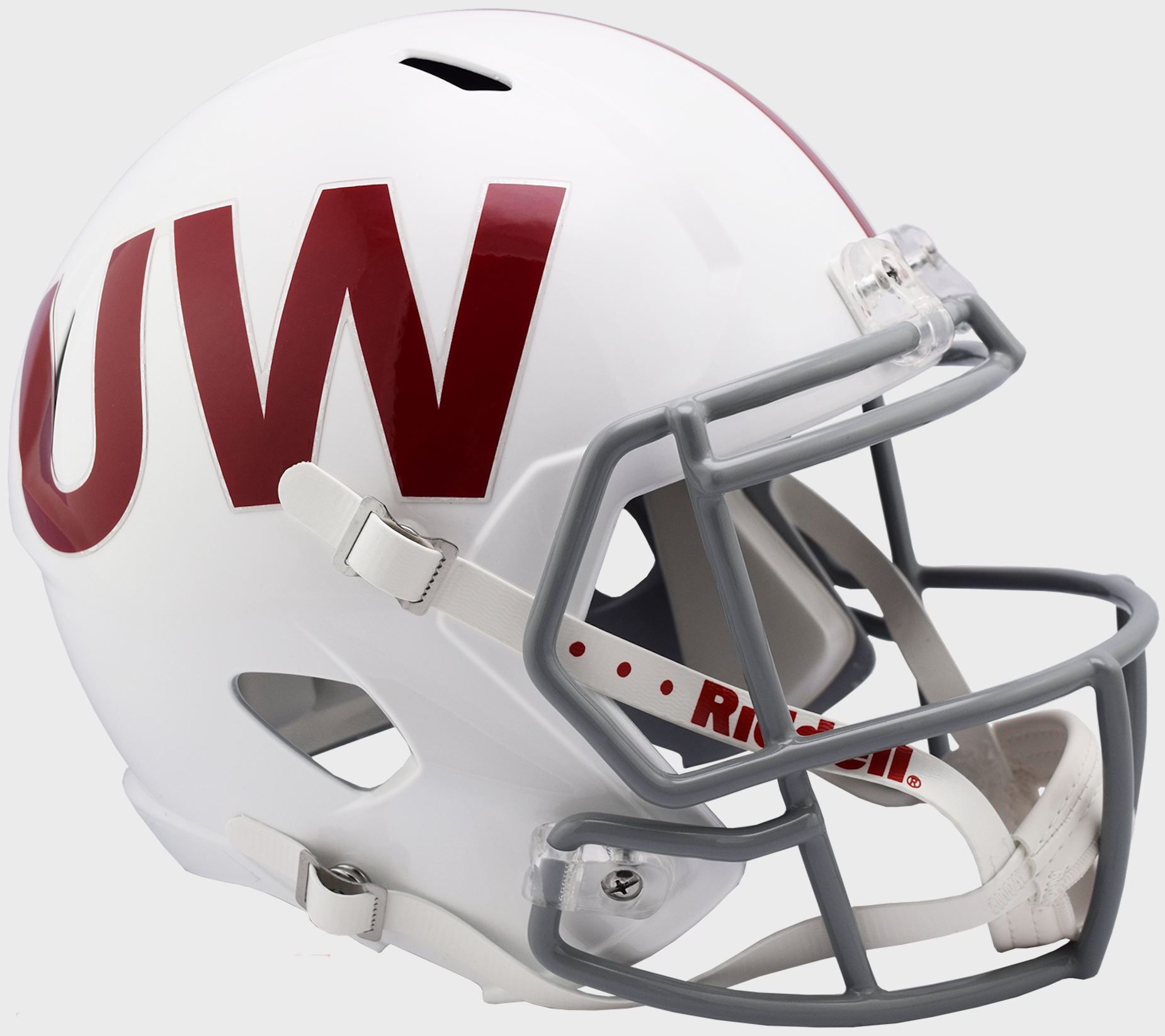Wisconsin Badgers Speed Replica Football Helmet <B>UW Throwback</B>