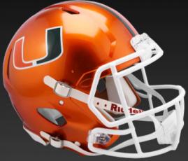 Miami Hurricanes Speed Replica Football Helmet <B>FLASH ESD 8/21/21</B>