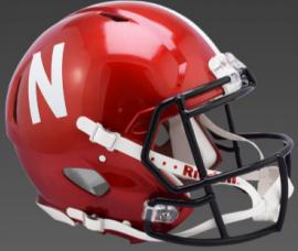 Nebraska Cornhuskers Speed Replica Football Helmet <B>FLASH ESD 8/21/21</B>