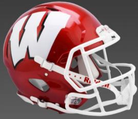 Wisconsin Badgers Speed Replica Football Helmet <B>FLASH ESD 8/21/21</B>