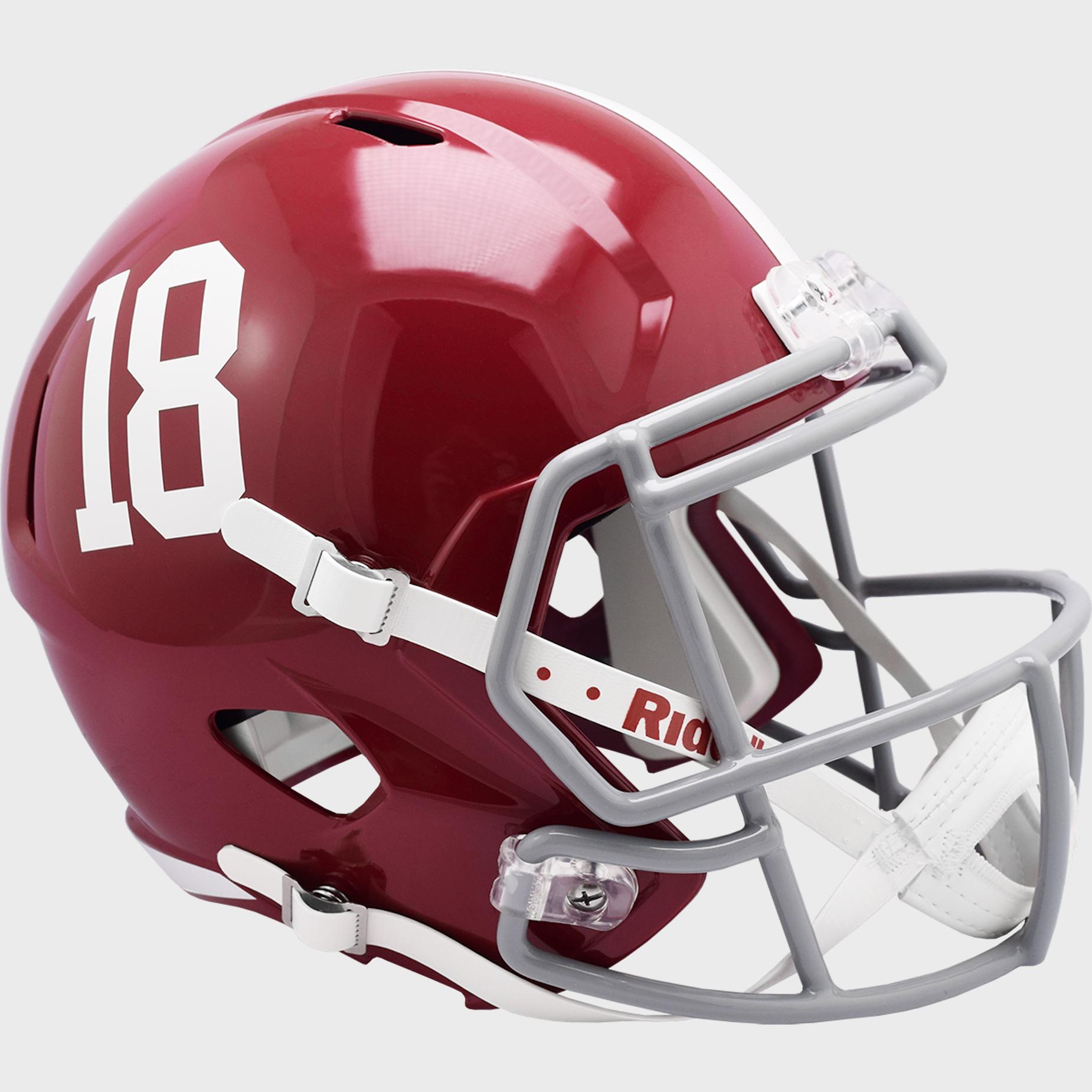 Alabama Crimson Tide Speed Replica Football Helmet #18 <B>NEW 2021</B>