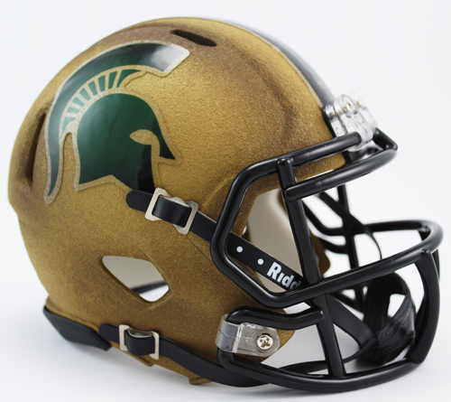 Michigan State Spartans NCAA Mini Speed Football Helmet <B>2011 Special Textured Limited</B>