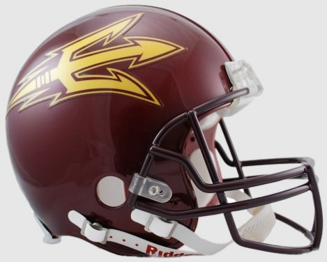 Arizona State Sun Devils Football Helmet <B>Maroon DISCONTINUED</B>