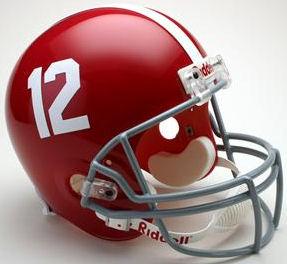 Alabama Crimson Tide Full Size Replica Football Helmet #12