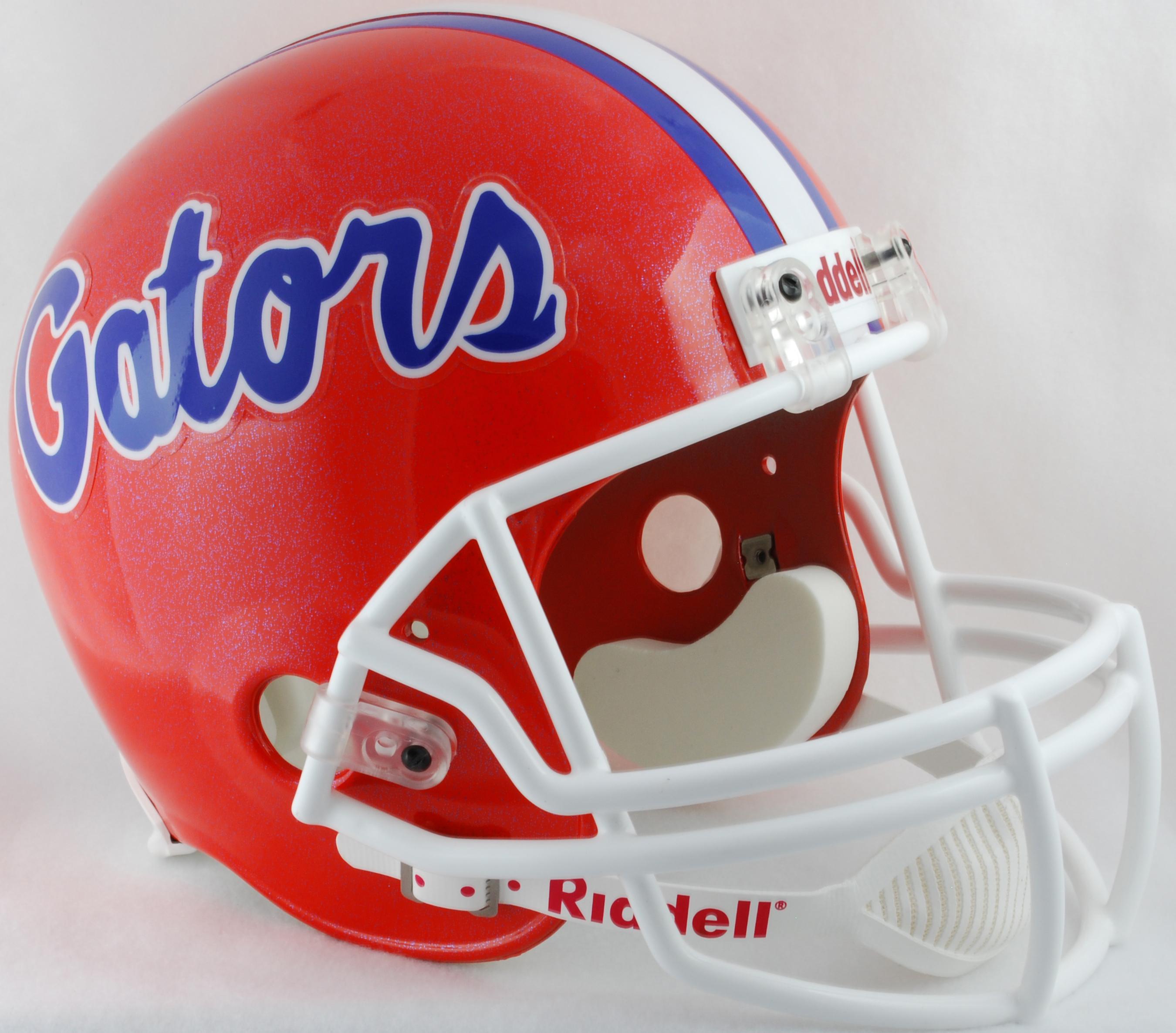 Florida Gators Full Size Replica Football Helmet Blue Flake