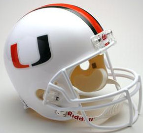 Miami Hurricanes Full Size Replica Football Helmet