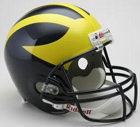 Michigan Wolverines Full Size Replica Football Helmet