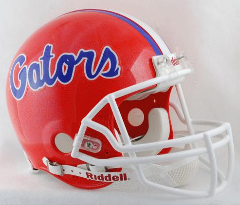 Florida Gators Football Helmet Blue Flake