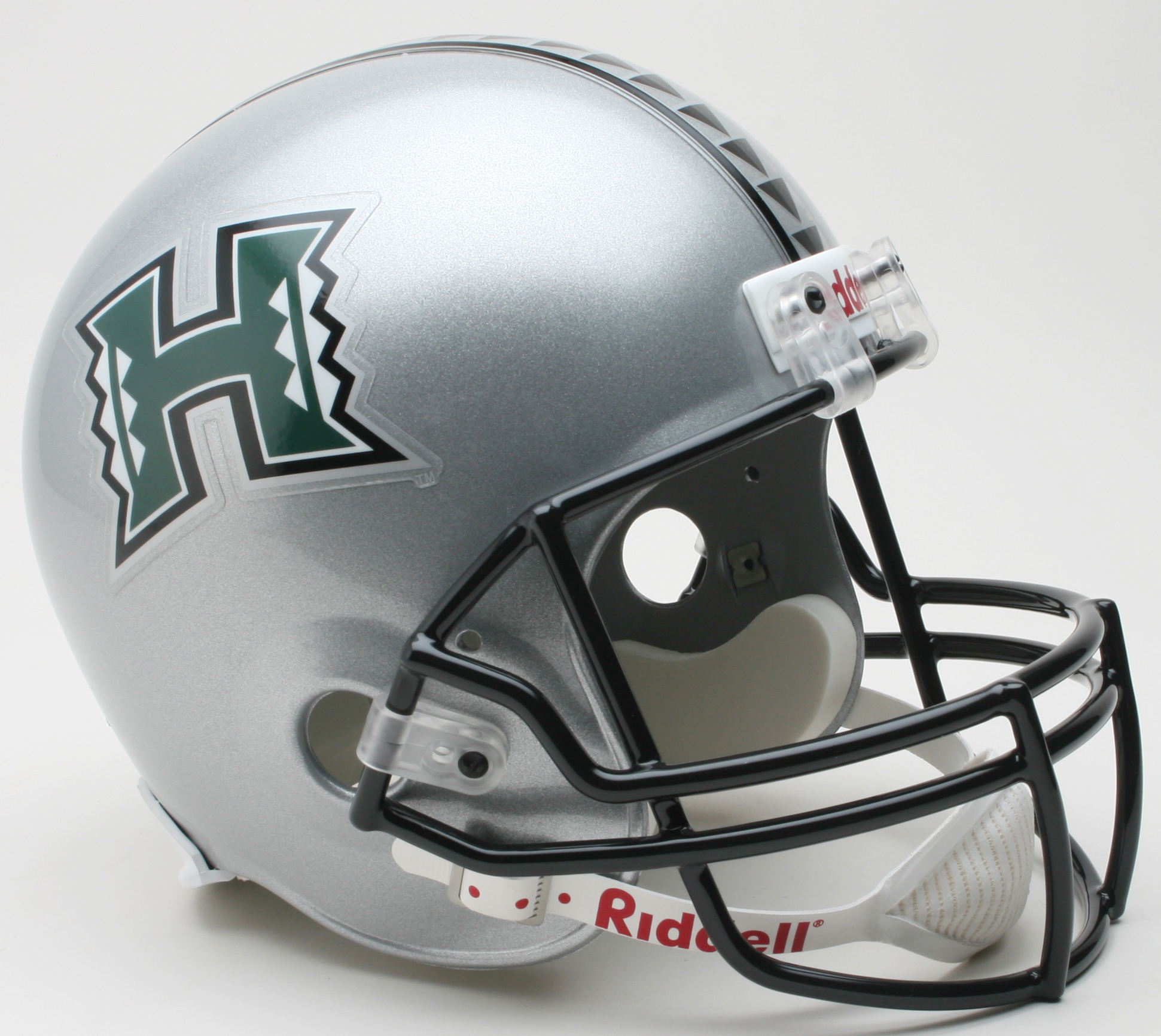 Hawaii Warriors Full Size Replica Football Helmet Silver