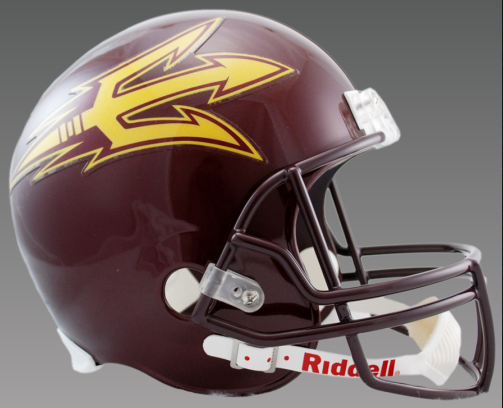 Arizona State Sun Devils Full Size Replica Football Helmet <B>Maroon</B>