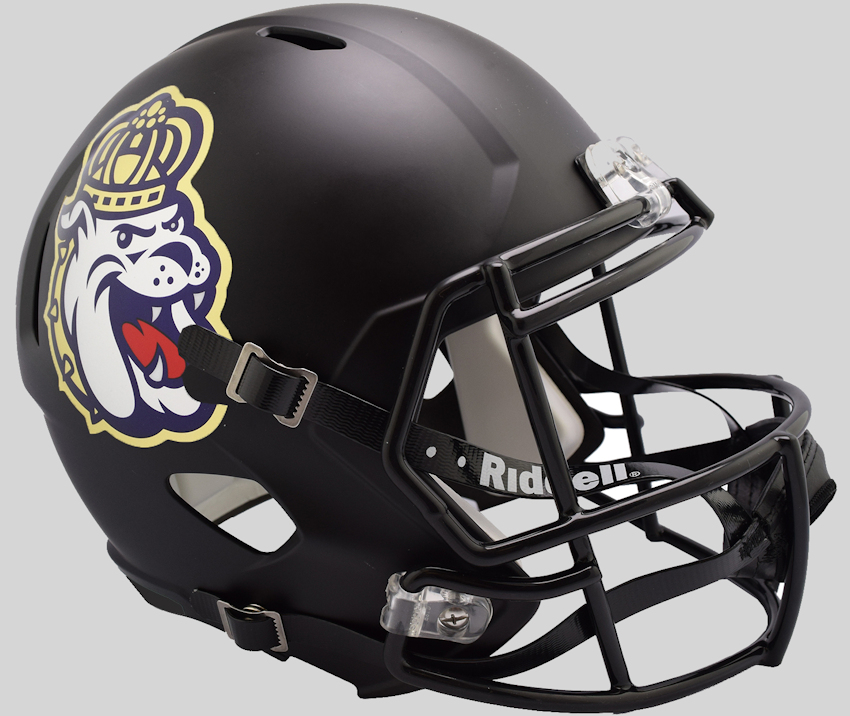 James Madison Dukes Speed Replica Football Helmet <B>NEW 2018 Matte Black</B>