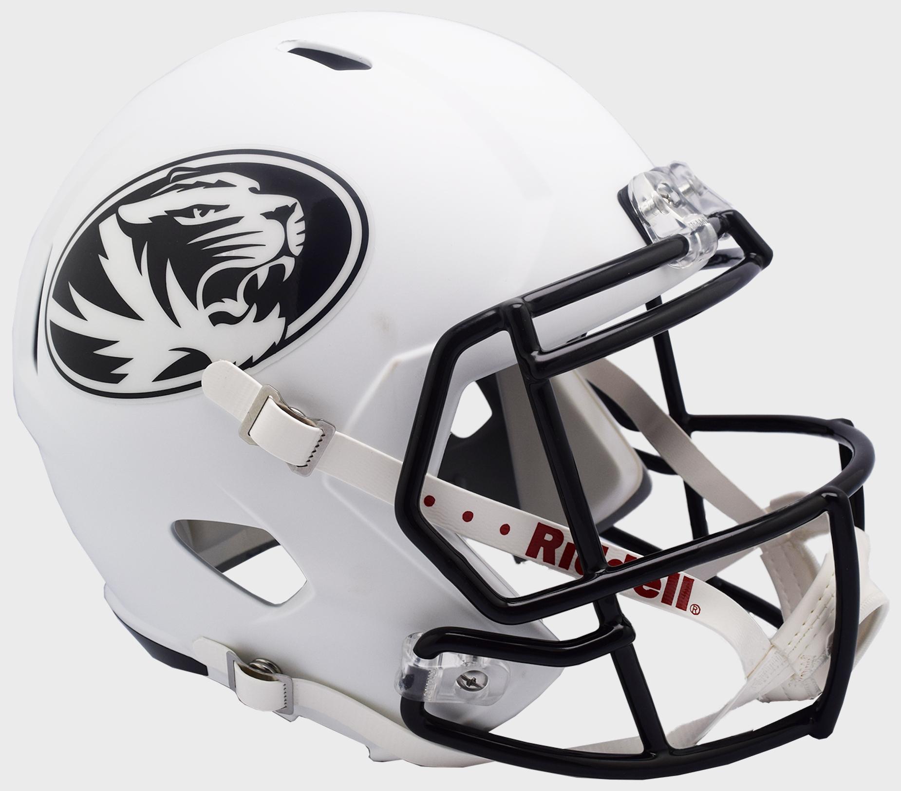 Missouri Tigers Speed Replica Football Helmet <B>Matte White</B>