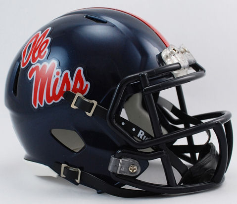 Mississippi (Ole Miss) Rebels NCAA Mini Speed Football Helmet