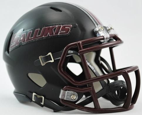Southern Illinois Salukis NCAA Mini Speed Football Helmet <B>Matte Black Discontinued</B>