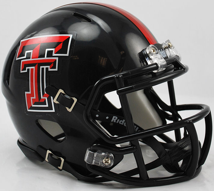 Texas Tech Red Raiders NCAA Mini Speed Football Helmet <B>Chrome Logo</B>