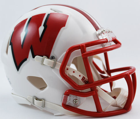 Wisconsin Badgers NCAA Mini Speed Football Helmet