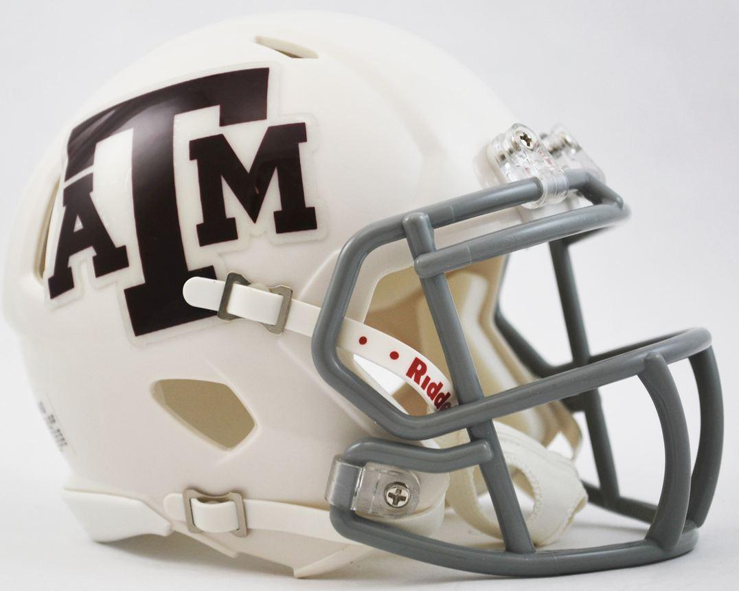 Texas A&M Aggies NCAA Mini Speed Football Helmet <B>White</B>