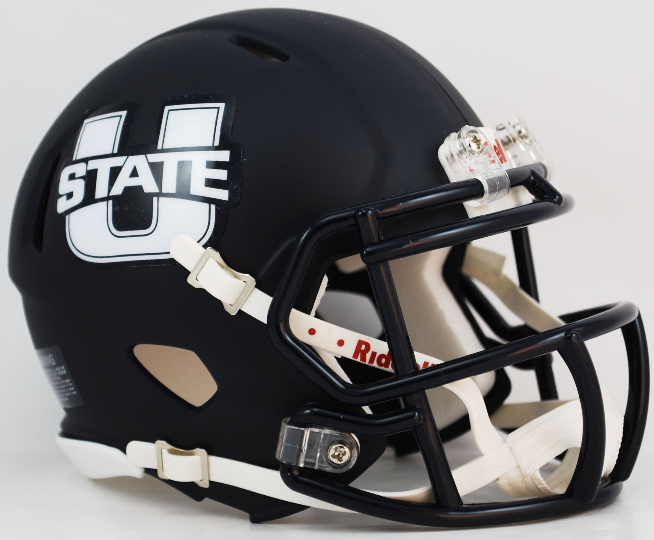 Utah State Aggies NCAA Mini Speed Football Helmet <B>Matte Navy</B>