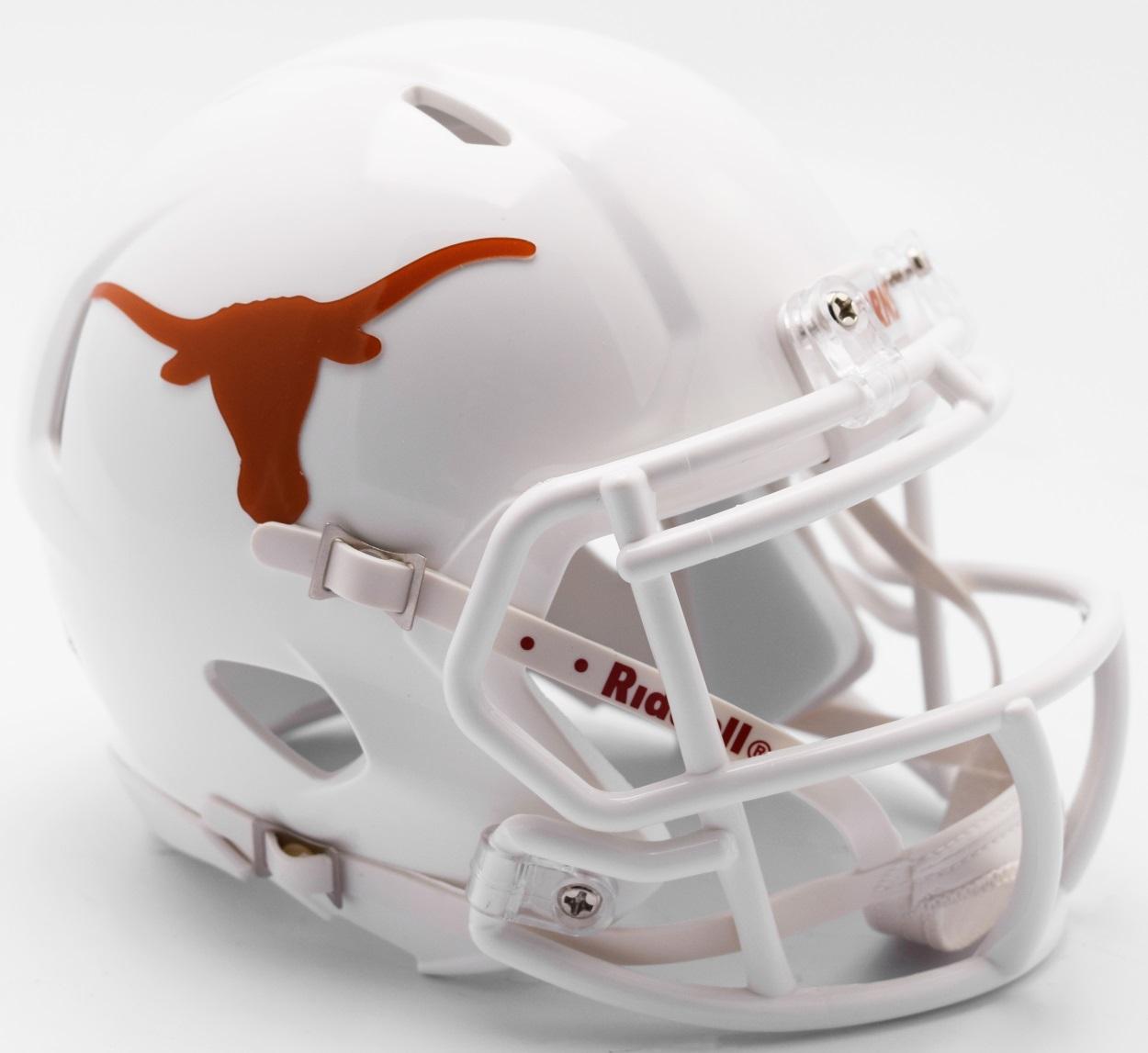 Texas Longhorns NCAA Mini Speed Football Helmet <B>NEW 2017</B>