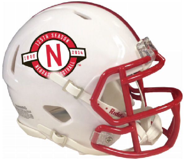 Nebraska Cornhuskers NCAA Mini Speed Football Helmet <B>125th Anniversary</B>