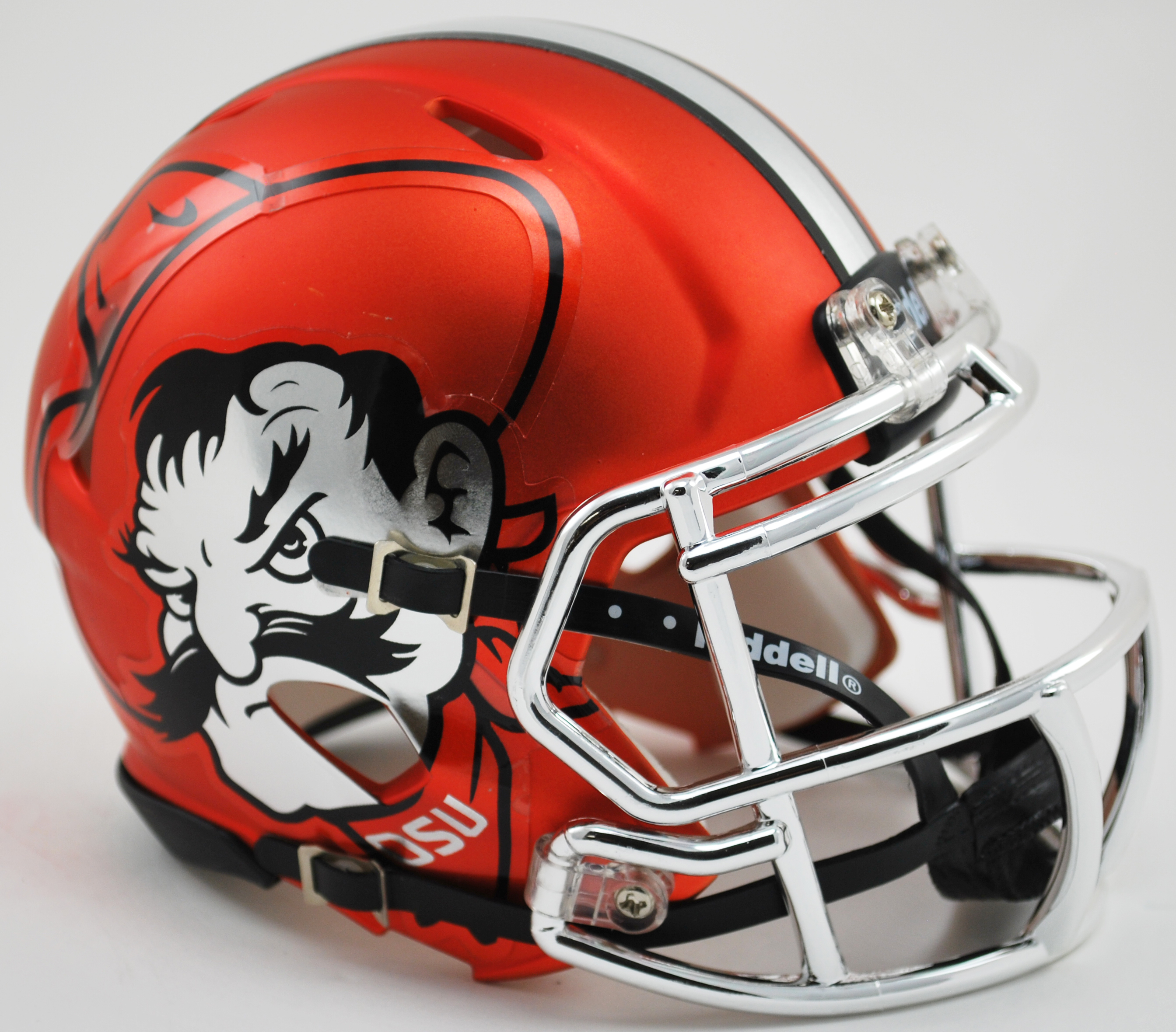 Oklahoma State Cowboys NCAA Mini Speed Football Helmet <B>Pistol Pete Orange</B>
